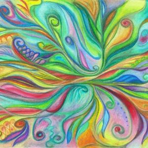 Buja virágzás, Művészet, Festmény, Olajfestmény, Fotó, grafika, rajz, illusztráció, Festészet, Olajpasztell grafikámról készült, giclée művészi nyomat. Illusztrációnak is, vagy szoba falára ajánl..., Meska