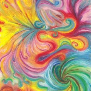 Színörvény, Művészet, Festmény, Pasztell, Festészet, Fotó, grafika, rajz, illusztráció, Olajpasztell grafikámról készült, giclée művészi nyomat - az élénk színek rajongóinak. Illusztráción..., Meska
