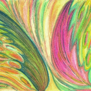 Szárnyak, Művészet, Festmény, Pasztell, Festészet, Fotó, grafika, rajz, illusztráció, Olajpasztell festményemről készült, giclée művészi nyomat - az élénk színek rajongóinak. Illusztráci..., Meska