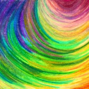 Ex-center, Művészet, Festmény, Olajfestmény, Festészet, Fotó, grafika, rajz, illusztráció, Olajpasztell grafikámról készült, giclée művészi nyomat - az élénk színek rajongóinak. Illusztráción..., Meska