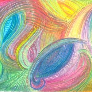 Fénykarcok, Művészet, Festmény, Pasztell, Festészet, Fotó, grafika, rajz, illusztráció, Olajpasztell grafikámról készült, giclée művészi nyomat - az élénk színek rajongóinak. Illusztráción..., Meska