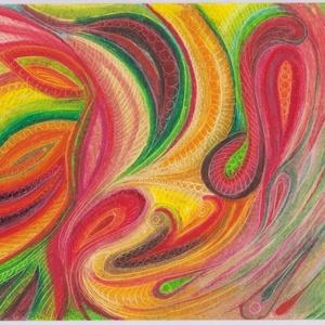 Indák, Művészet, Festmény, Olajfestmény, Festészet, Fotó, grafika, rajz, illusztráció, 30 % tavaszváró AKCIÓ! (A feltüntetett ár már az akciós ár!) Olajpasztell festményemről készült, gic..., Meska