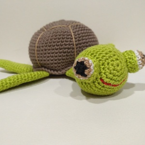 Pörszi, a teknős - horgolt amigurumi játék, Gyerek & játék, Játék, Baba játék, Játékfigura, Készségfejlesztő játék, Horgolás, Pörszi, a teknős, egy óvoda kedves kis lakója. Ékszerteknős, akit imádnak a gyerekek. Az én gyermeke..., Meska