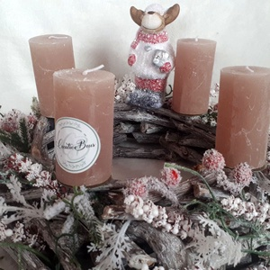 Adventi koszorú Rénivel, Otthon & Lakás, Karácsony & Mikulás, Adventi koszorú, Virágkötés, Ez a dekoráció mesés hangulatot teremt otthonunkban. Ez a dekoráció egy ágas alapra készült, melyet ..., Meska