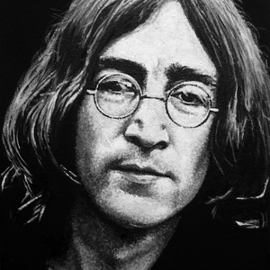 John Lennon - A4 méretű akril festmény, Művészet, Festmény, Akril, Festészet, Ezt a John Lennon-t ábrázoló akrilfestményt elsősorban zene rajongók figyelmébe ajánlom. \nA kép faro..., Meska