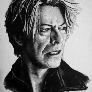 David Bowie - A4 méretű akril festmény, Művészet, Festmény, Akril, Festészet, Ezt a David Bowie-t ábrázoló akrilfestményt elsősorban zene rajongók figyelmébe ajánlom. \nA kép faro..., Meska