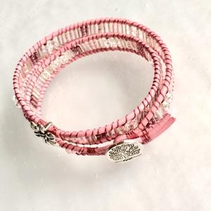 Sunset női pink bőr wrapkarkötő  (Cristallodesign) - Meska.hu