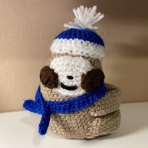 Amigurumi Lajhár bébi, Játék & Gyerek, Plüssállat & Játékfigura, Horgolás, Ez az aranyos kis lajhár bébi, a kicsik egyik kedvenc játékává válhat. , Meska