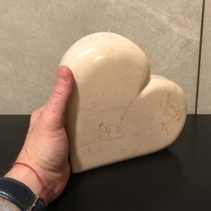 Big Heart, Otthon & Lakás, Dekoráció, Dísztárgy, Izgalmas mintázatú márvány szív. Mintha igazi erek futnának benne, polírozott felülete még jobban ki..., Meska