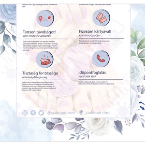 Covid-19 tájékoztató poszter, PDF JPEG poszter, üzletre szerkeszthető, fodrász szalon, körmös szalon, kozmetika , Otthon & Lakás, Papír írószer, Egyedi szerkesztés, Fotó, grafika, rajz, illusztráció, Meska
