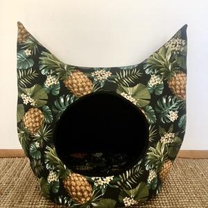 TROPICAL-Cicabúvóhely, Cicáknak & Macskáknak, Kisállatoknak, Otthon & Lakás, Varrás, Búvóhely macskák számára. Ez a darab L-es méretben készült, így nagyobb cicák számára is kényelmes p..., Meska
