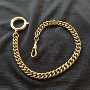 """Zsebóralánc \""""kis szemű\"""", sárgarézből , Zsebóra, Karóra és Ékszeróra, Ékszer, Ötvös, Saját zsebóralánc gyűjteményem alapján készítettem el a láncot. A rugós gyűrűt és a karabinert is ha..., Meska"""