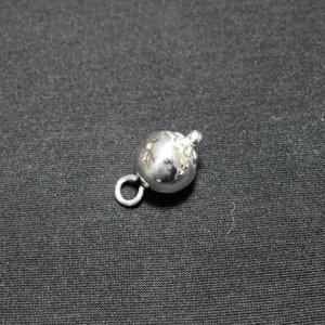 """Gomb, pityke \""""virágos\"""" egész, ezüstből, Egyéb kellék, Öv & Övcsat, Ruha & Divat, Ötvös, Üreges ezüst fémgomb.\nMúzeumi kutatás és saját gyűjteményem darabjai alapján gombmintát készítettem,..., Meska"""