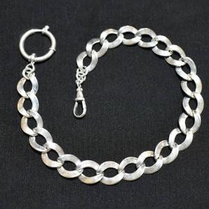 """Zsebóralánc \""""lemez szemes\"""" ezüstből, Ékszer, Karóra és Ékszeróra, Zsebóra, Ötvös, Saját zsebóralánc gyűjteményem alapján készítettem el a láncot. A rugós gyűrűt és a karabinert is ha..., Meska"""