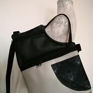 """,,TILDA\""""  kézi és válltáska, Táska & Tok, Variálható táska, Varrás,  Világos szürke árnyalatú és fekete minőségi,textil és műbőrökből készítettem ezt a mutatós, \nérdeke..., Meska"""