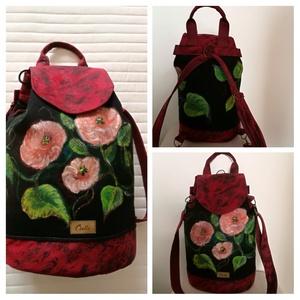 """,,ILDIKÓ """"3 az 1-ben kézzel festett táska., Táska & Tok, Hátizsák, Hátizsák, Ezt az egyedi mintázatú, designer táskát, olyan hölgyeknek, lányoknak, ajánlom akik szeretik az ötle..., Meska"""