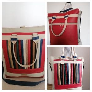 """,, INEZ"""" 4 az 1 - ben átalakítható táska., Táska & Tok, Variálható táska, Ezt az egyedi, elég nagy, designer táskát, olyan hölgyeknek, lányoknak, kismamáknak, diák  lányoknak..., Meska"""