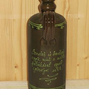 Kerámia pálinkás butella barack mintával (Cserepesek) - Meska.hu