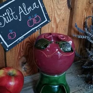 Almasütő, Otthon & Lakás, Lámpa, Hangulatlámpa, Kerámia, Kerámia almasütő a hangulatos téli estékre. A felső -alma- részbe egy almát egybe vagy szeletelve el..., Meska