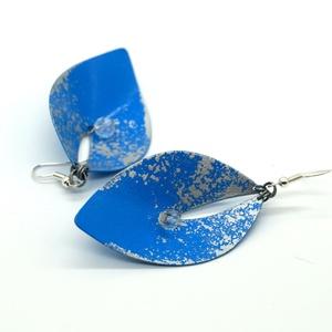 Béke - kék-ezüst fülbevaló - RIVERSIDE kollekció (csermakdesign) - Meska.hu