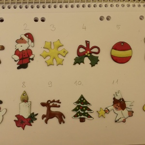 karácsonyfadíszek, Otthon & Lakás, Karácsony & Mikulás, Karácsonyfadísz, Tűzzománc, 12 különböző kisméretű tűzzománc karácsonyfadísz, készletben. Lehetséges darabonként is rendelni a k..., Meska