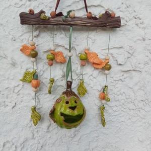 Kerámia tök kompozíció, Otthon & lakás, Dekoráció, Ünnepi dekoráció, Lakberendezés, Ajtódísz, kopogtató, Kerti dísz, Kerámia, Kerámia tök kompozíció\n\nOtthoni, kerti dísz, a tök szép dísze lehet az őszi otthonnak, kertnek. Este..., Meska