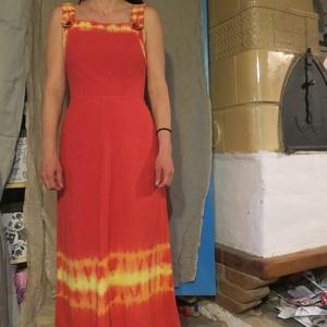 Kantáros nyári ruha, Ruha, Női ruha, Ruha & Divat, Varrás, Batikolt ruha  \nA képen látható ruhák egyedi díszítéssel,batikolás technikával készültek,könnyű pamu..., Meska