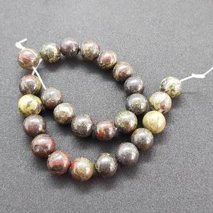 Sárkányvér achát ásványgyöngy, féldrágakő gyöngy, Gyöngy, ékszerkellék, Féldrágakő, Ékszerkészítés, Gyöngy, 10 mm-es sárkányvér achát ásványgyöngy, 25db., Meska