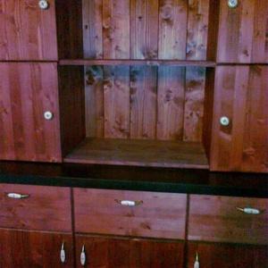 Kredenc, Bútor, Otthon & lakás, Szekrény, Famegmunkálás, Tömörfenyőből hagyományos kézműves technikával készül , Meska