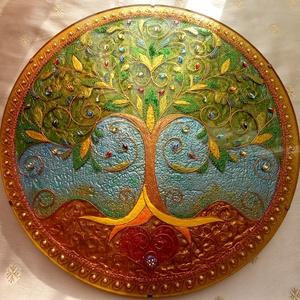 Életfa Mandala, Otthon & Lakás, Dekoráció, Kép & Falikép, Festészet, Üvegművészet, Életfa Mandala\nAz életfa az állandó fejlődés, változás, megújulás, az élet, az ember szimbóluma. Az ..., Meska