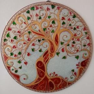 Életfa Mandala, Otthon & Lakás, Dekoráció, Kép & Falikép, Ékszerkészítés, Üvegművészet, Életfa Mandala\nAz életfa az állandó fejlődés, változás, megújulás, az élet, az ember szimbóluma. Az ..., Meska