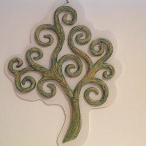 Életfa kerámia falikép, Esküvő, Nászajándék, Otthon & lakás, Képzőművészet, Napi festmény, kép, Festmény, Kerámia, Életfát ábrázoló falikép. \nA kerámiából megformázott életfát antikolt, zöld matt mázzal készítettem ..., Meska