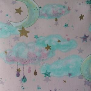 Felhős, csillagos ágynemű garnitúra (csillagosveny) - Meska.hu
