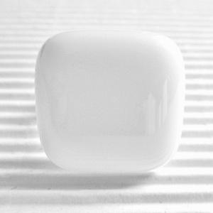 Hófehér kocka üveg gyűrű, üvegékszer - ékszer - gyűrű - statement gyűrű - Meska.hu
