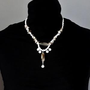 Vénusz achát ásvány nyakék achát fülbevalóval rozsdamentes akasztón ékszer szett, ásványékszer, gyöngyékszer - ékszer - ékszerszett - Meska.hu