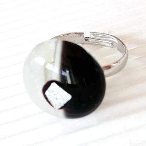 Holdfény üveg gyűrű, üvegékszer - Meska.hu