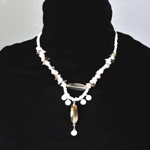 Vénusz achát ásvány nyakék, üveggyöngy, gyöngyékszer, Ékszer, Nyaklánc, Gyöngyös nyaklác, Ékszerkészítés, Gyöngyfűzés, gyöngyhímzés, AKCIÓ: 3 db nyakék egy kosárban vásárlásakor a 3. árából 50 % engedményt adok. 4 db gyöngyfűzött nya..., Meska