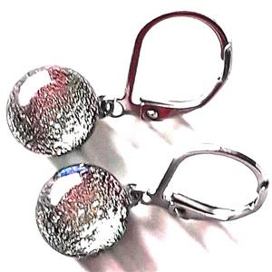 Orvosi fém francia kapcsos alapon Hajnalcsillag dichroic üveg fülbevaló, üvegékszer - Meska.hu