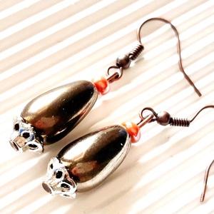 Aranybarna csepp lógós fülbevaló, gyöngy ékszer, Ékszer, Fülbevaló, Lógó fülbevaló, Ékszerkészítés, Gyöngyfűzés, gyöngyhímzés, AKCIÓ! - 3 BÁRMILYEN TERMÉK vásárlása esetén a harmadikból 50 % KEDVEZMÉNY, akár INGYEN POSTÁZÁS és ..., Meska
