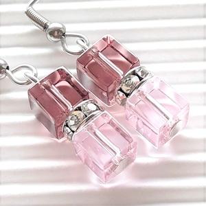 Arwen üveg gyöngy lógós fülbevaló NEMESACÉL akasztón, üveggyöngy ékszer, Ékszer, Fülbevaló, Lógó fülbevaló, Ékszerkészítés, Gyöngyfűzés, gyöngyhímzés, Meska