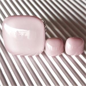 Sápadt rózsaszín üveg gyűrű, üvegékszer - ékszer - gyűrű - statement gyűrű - Meska.hu