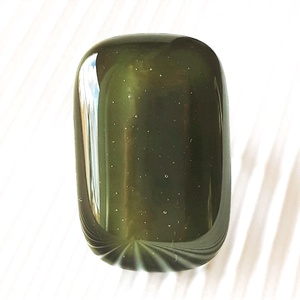 Mohazöld elegáns üveg gyűrű, üvegékszer - ékszer - gyűrű - statement gyűrű - Meska.hu