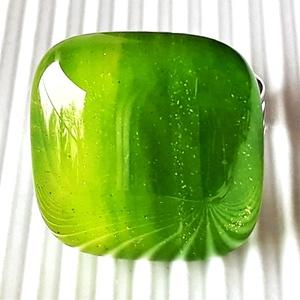 Lorien erdeje üveg gyűrű, üvegékszer, Ékszer, Gyűrű, Statement gyűrű, Ékszerkészítés, Üvegművészet, Meska