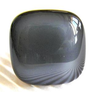 Grafit szürke üveg gyűrű, üvegékszer, Ékszer, Gyűrű, Statement gyűrű, Ékszerkészítés, Üvegművészet, Meska