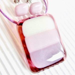 Pillecukor üveg medál, nyaklánc, üvegékszer - ékszer - nyaklánc - medálos nyaklánc - Meska.hu