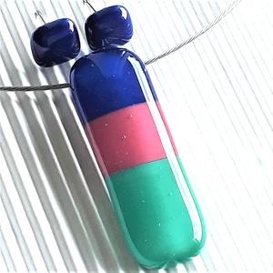 NEMESACÉL: Balatoni napfelkelte üveg medál és bedugós fülbevaló, üvegékszer szett  - ékszer - ékszerszett - Meska.hu