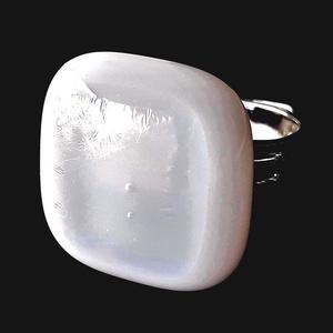 Szivárvány mennyegző üveg kocka gyűrű, üvegékszer - Meska.hu