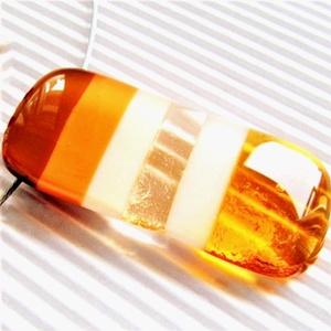 Mézes karamella üveg medál, NEMESACÉL, üvegékszer, Ékszer, Nyaklánc, Medálos nyaklánc, Ékszerkészítés, Üvegművészet, Meska