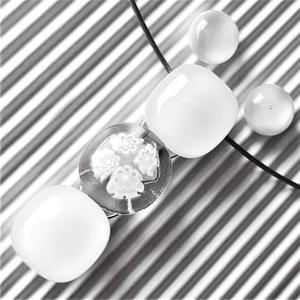Selymes fehér virág-gyöngysor üveg medál és orvosi fém bedugós pötty fülbevaló, millefiori, virág, üvegékszer szett, Ékszer, Ékszerszett, Ékszerkészítés, Üvegművészet, AKCIÓ! - 3 BÁRMILYEN TERMÉK vásárlása esetén a harmadikból 50 % KEDVEZMÉNY, akár INGYEN POSTÁZÁS és ..., Meska