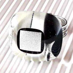 Holdfény üveg gyűrű, üvegékszer, Ékszer, Gyűrű, Statement gyűrű, Ékszerkészítés, Üvegművészet, Meska
